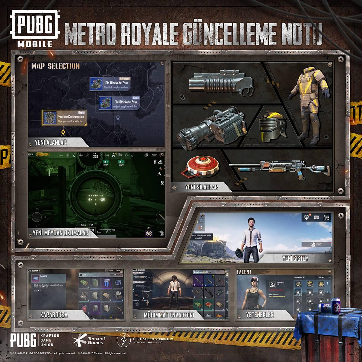PUBG MOBILE Yeni Metro Modu ve 1.1 Güncellemesi ile Karşınızda