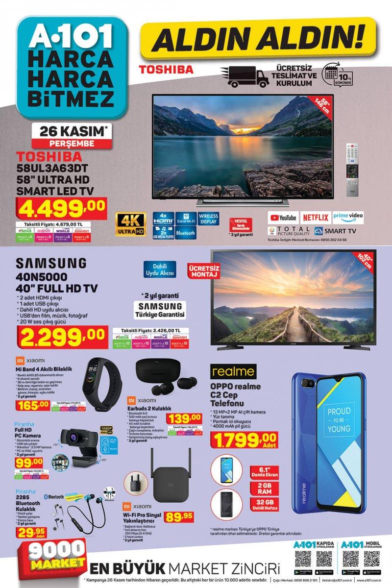 Kasım Ayının Son Haftasında Kaçırılmayacak Kaliteli Teknolojik Ürünler Tüm A101 Marketlerinde!