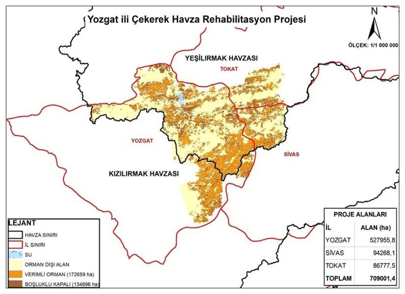 Çekerek Havzası'nın rehabilitasyonu için 2 milyar TL'lik proje hayata geçiyor