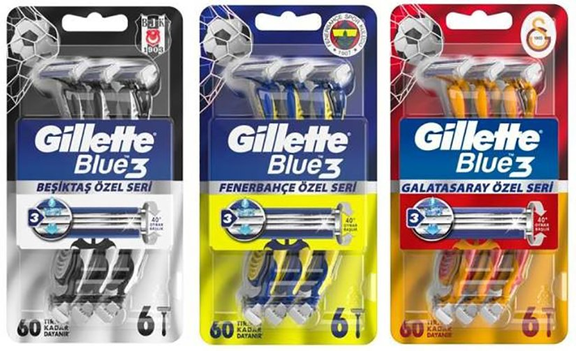 Gillette'ten Beşiktaş, Fenerbahçe ve Galatasaray'a dev destek!