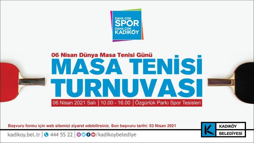 Masa tenisi meraklıları Kadıköy'de buluşuyor!