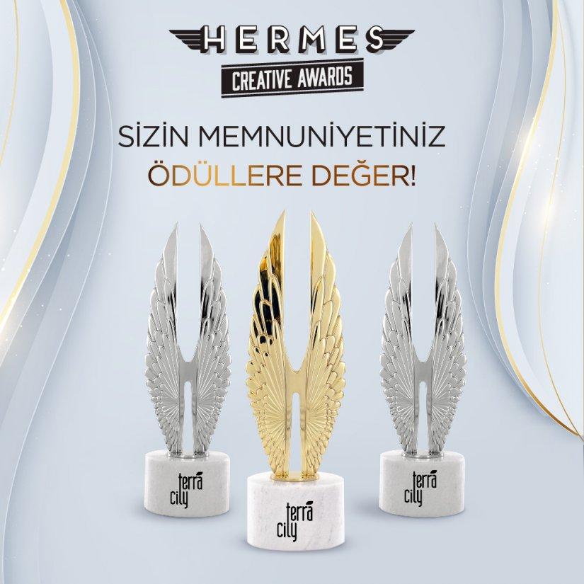 Hermes Creative Awards'tan TerraCity'e Üç Ödül Birden