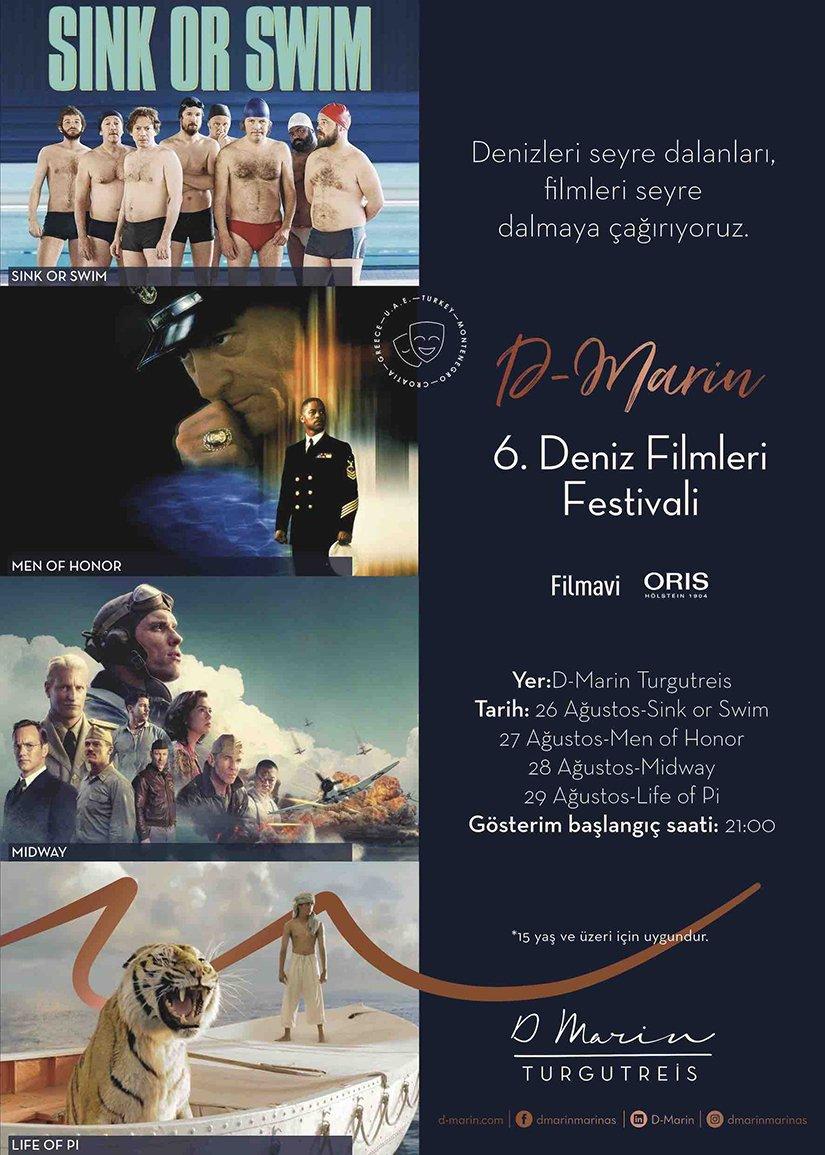 D- Marin 6. Deniz Filmleri Festivali başlıyor