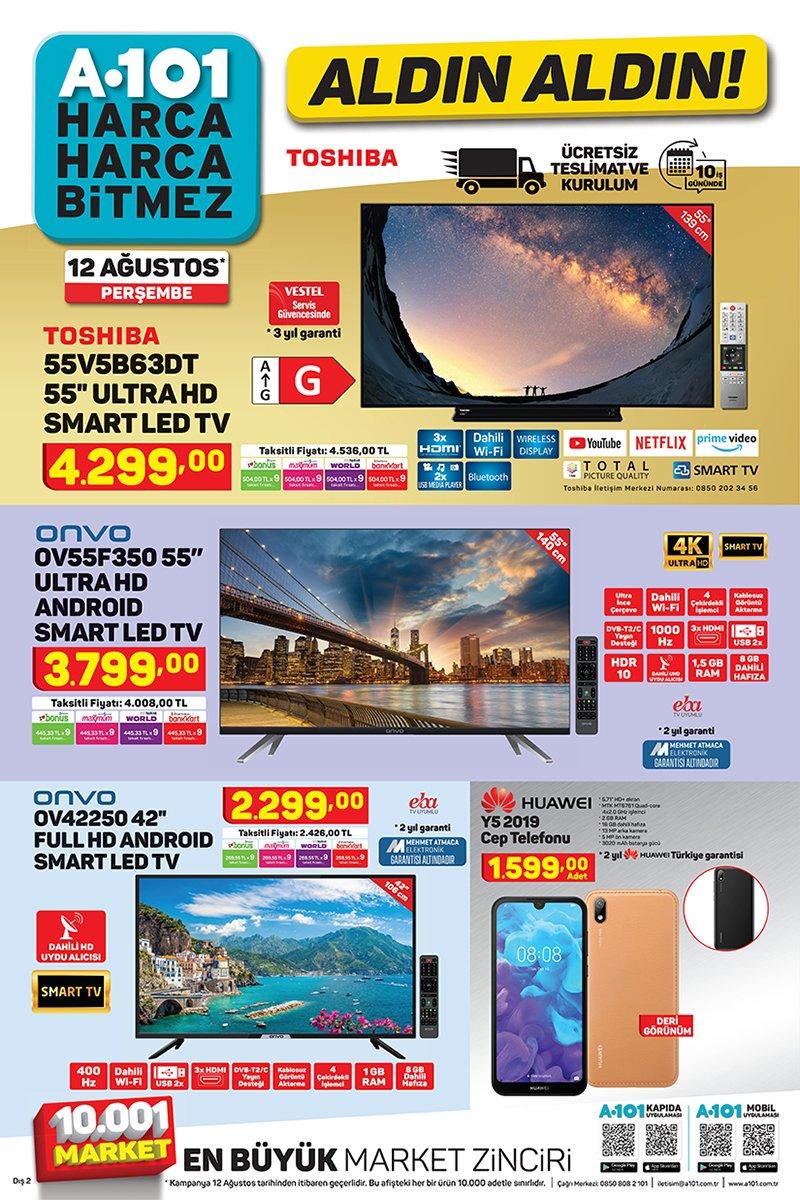 Uygun fiyatlı teknolojik ürünlerin adresi bu hafta da A101
